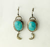 Natural Turquoise Silver Earrings