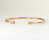 Rose Gold Flower Diamond Cuff