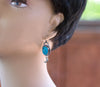 Nacozari Turquoise Earrings - Crescent Moon Dangle arrings