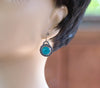 Sterling Kingman Turquoise Earrings