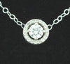 White Gold Moissanite Slide Pendant