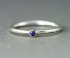 Sterling and 18k Sapphire Ring