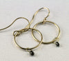 Black Diamond Gold Hoops