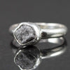 Natural Diamond Palladium Sterling Ring