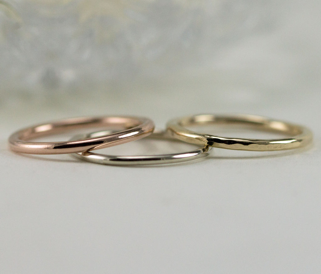 14k Gold Wedding Bands