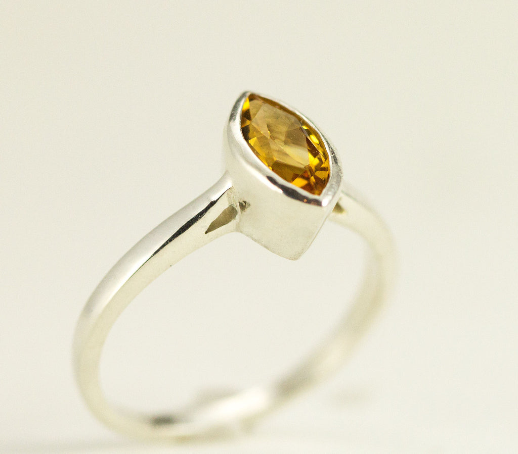 Marquise Citrine Ring
