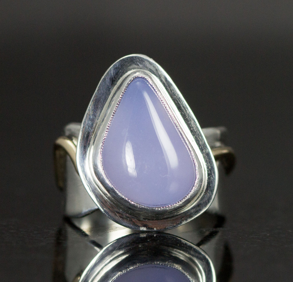Blue Chacedony Ring