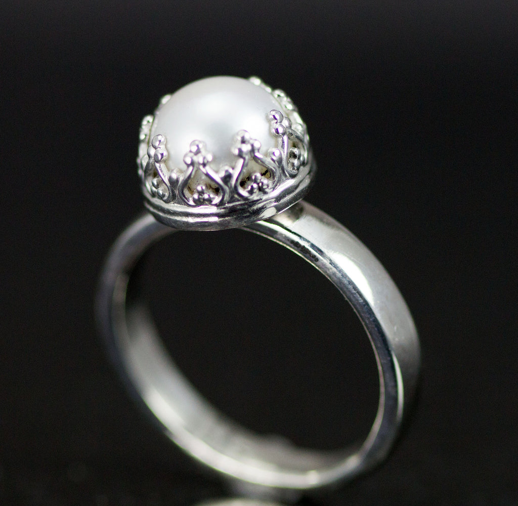 Pearl Sterling Ring