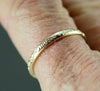 14k Gold Narrow Floral Band Ring