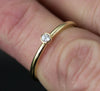 14k Gold 2mm Diamond Ring