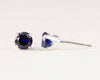 Sterling Sapphire Post Earrings