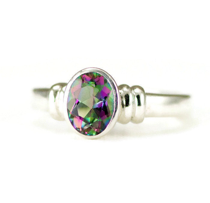 Rainbow Mystic Topaz Sterling Ring