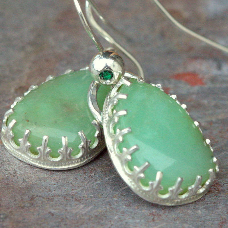Chrysoprase-Sterling-Earrings-all-wired-up-jewelry-designs