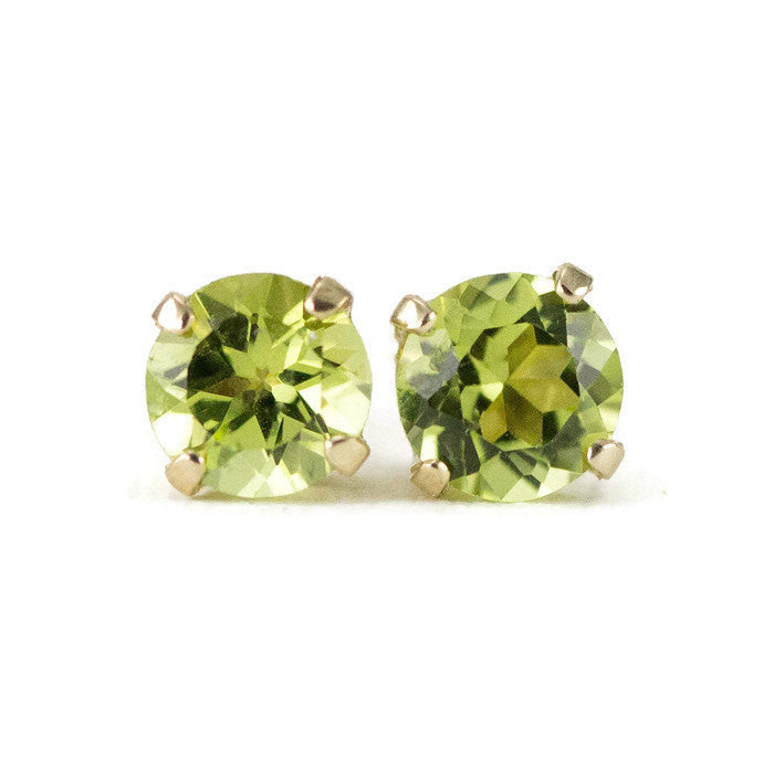 and original peridot product stud drop tear silver gemstone earrings by green embers