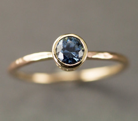 14k Gold Sapphire Engagement Ring - Fair Trade Sapphire Ring - Custom Made to Order