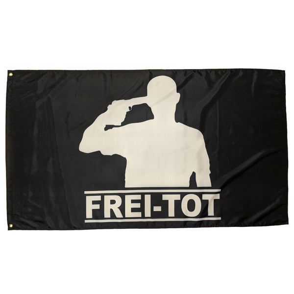 Frei-Tot Records Flag, 150cm x 90cm (3 x 5 FT)