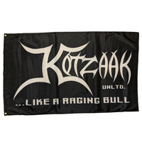 "Kotzaak Unltd. ""Like A Raging Bull""- Flag, 150cm x 90cm (3 x 5 FT)"
