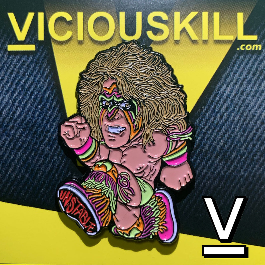 Ultimate Warrior Enamel Pin