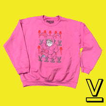 "Load image into Gallery viewer, Ugly Christmas Sweater RALPHIE ""PINK BUNNY"" SWEATER"