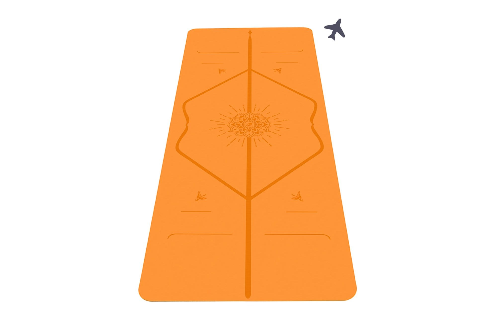 Portrait view of Happiness Yoga mat from Liforme