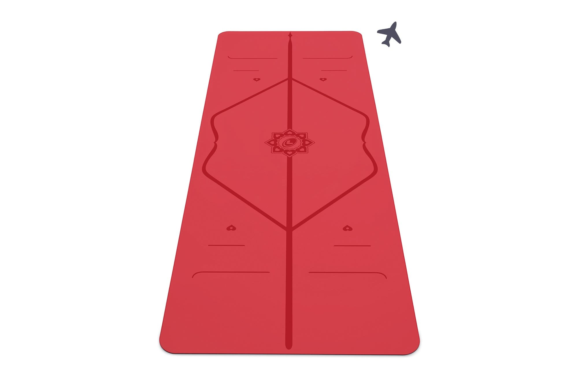 Portrait view of love travel Yoga mat from Liforme