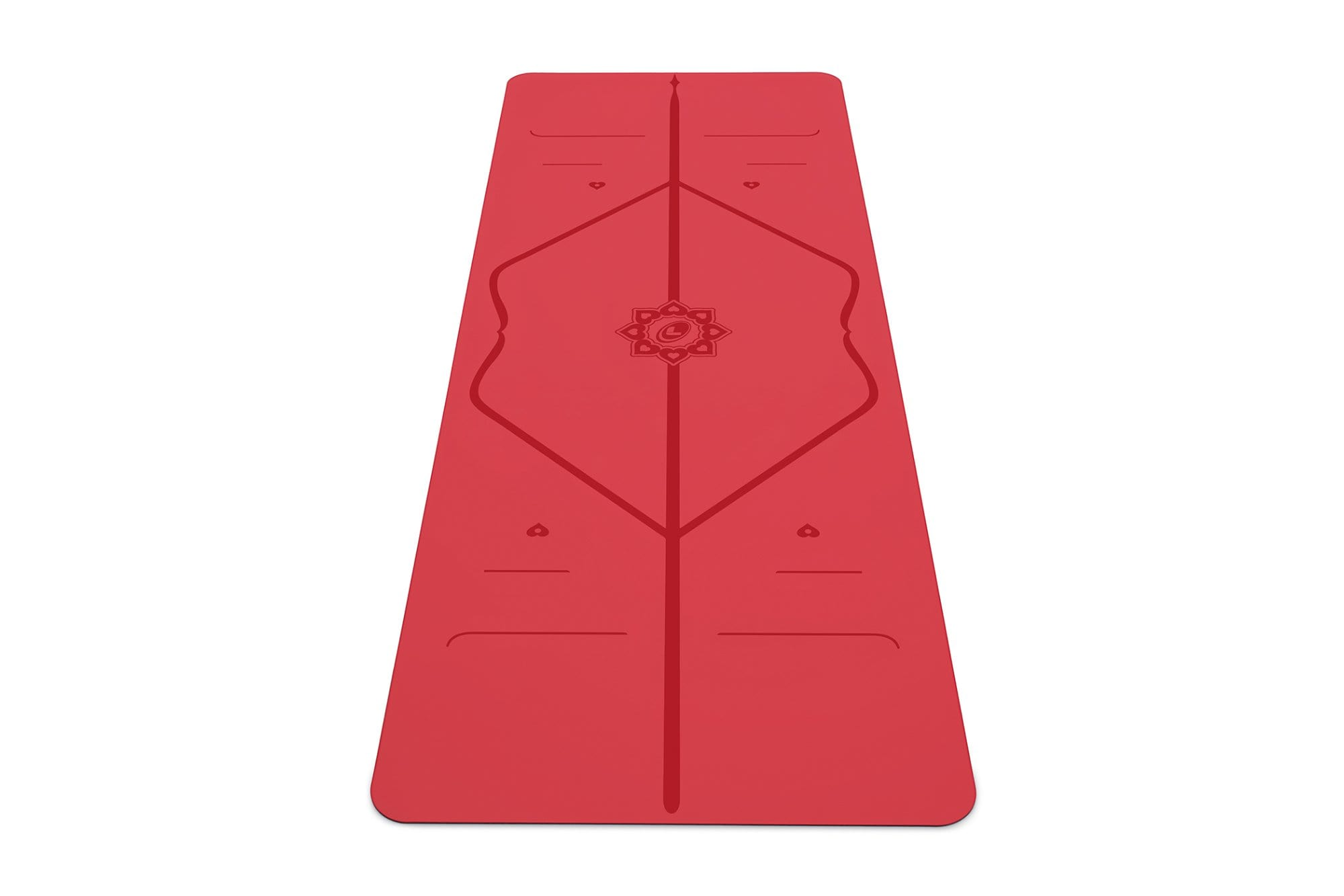Portrait view of love Yoga mat from Liforme