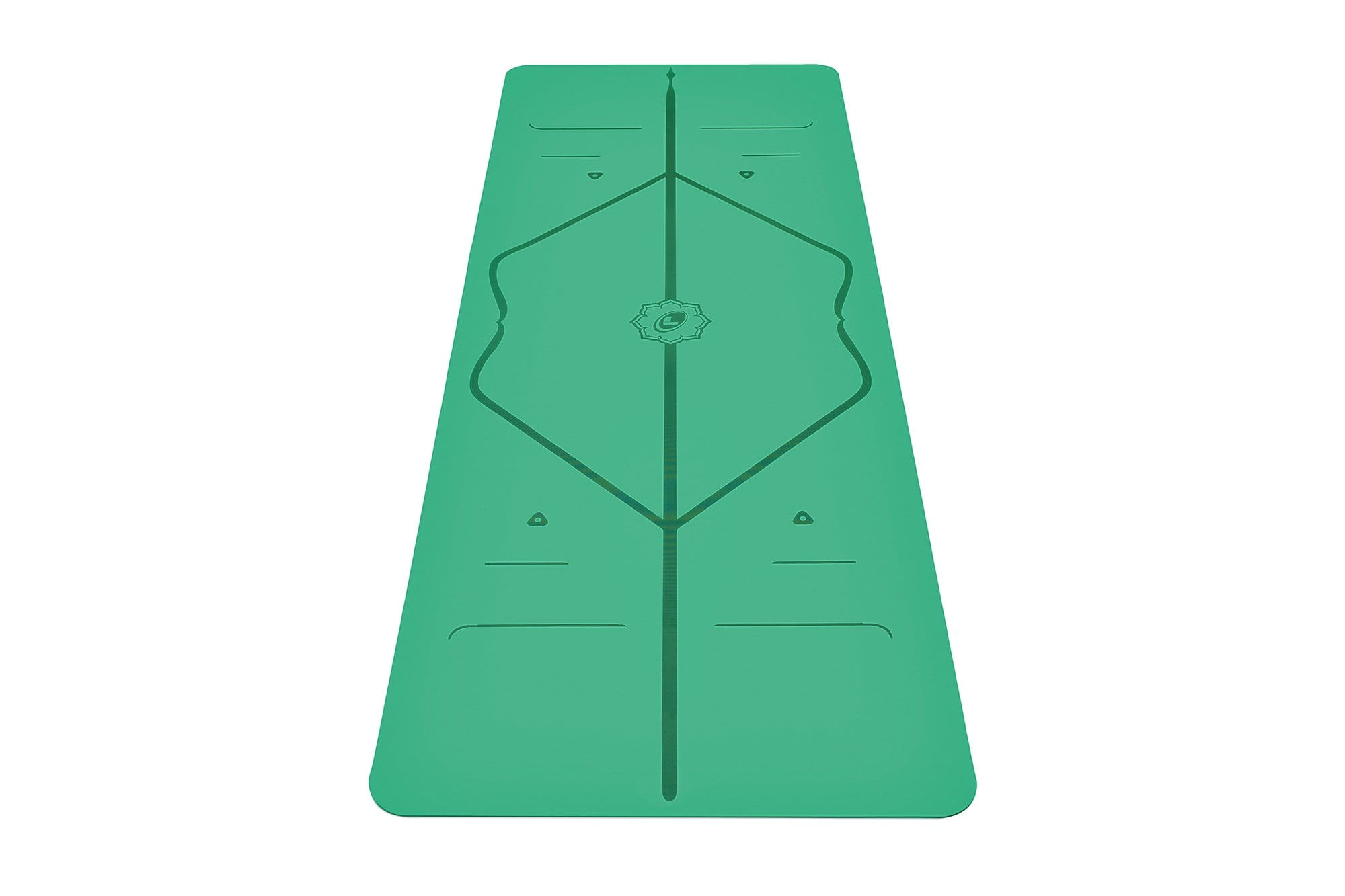 Portrait view of green Yoga mat from Liforme