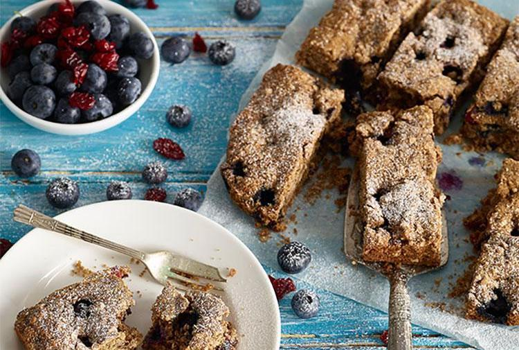 Healthy Cake with Blueberries