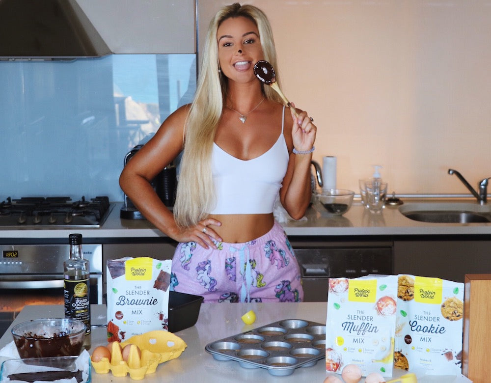 baking high protein snacks with protein world