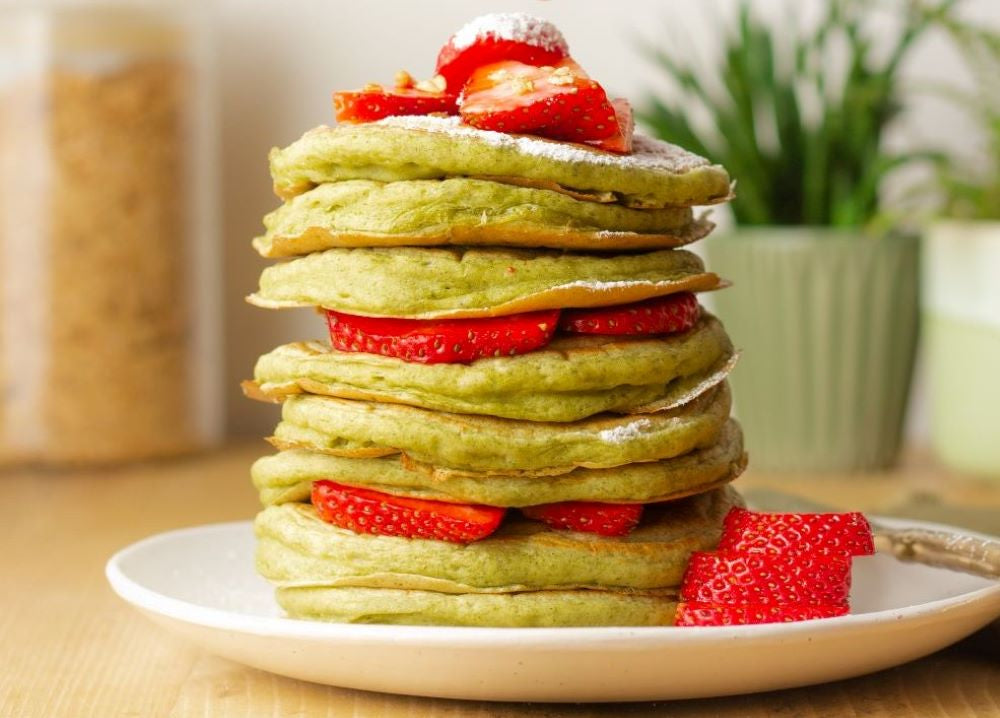 St Paddy's Day wheatgrass pancakes recipe inspired by St Patrick's Day
