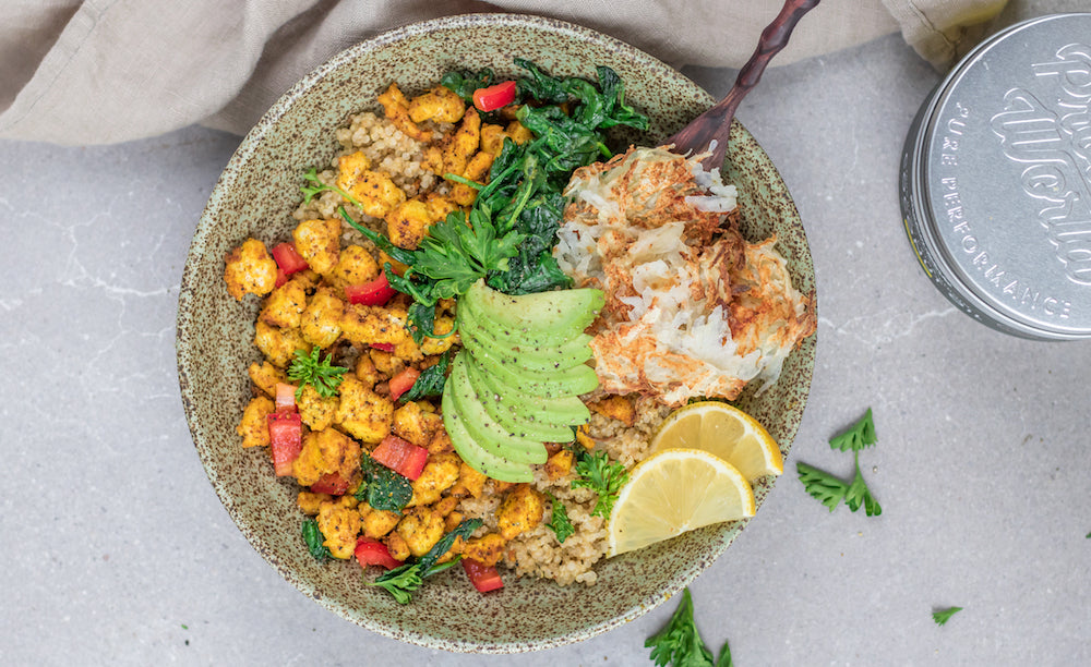 high protein vegan weight loss meal