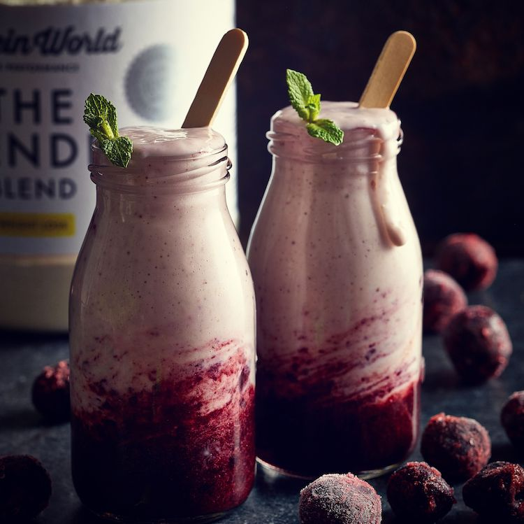 Purple smoothie with berries