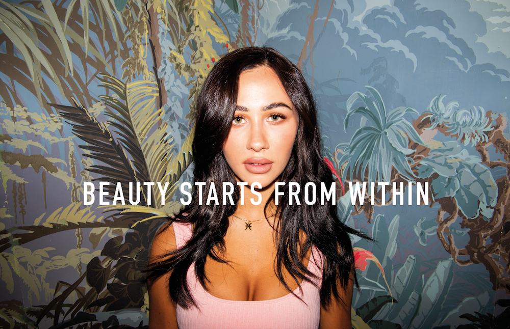 influencer with clear skin, how to get a smooth complexion
