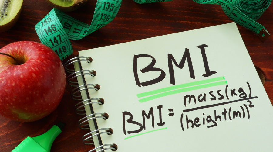 BMI = mass in kg over height in metres squared