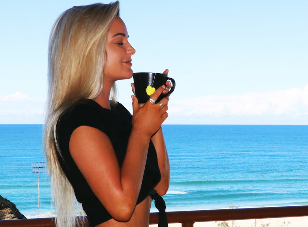 influencer drinking herbal weight loss tea