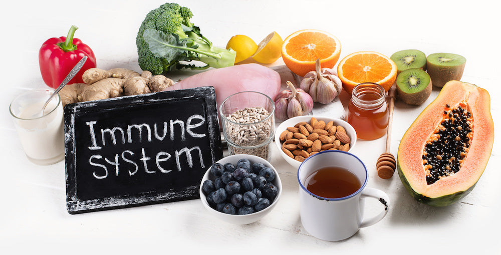 A mixture of fruit and vegetables to boost your immune system