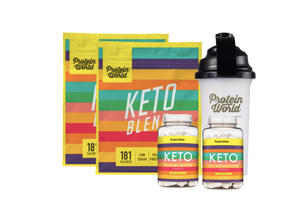 keto collection pouch and capsules and shaker
