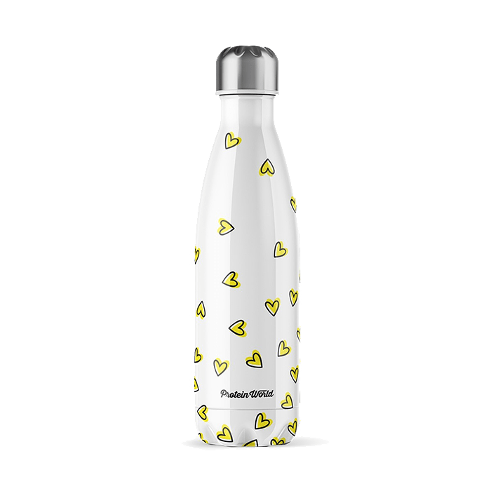Water Bottle - Limited Edition 'Yellow Hearts' - ProteinWorld.com