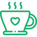 icon for great tasting exhale coffee