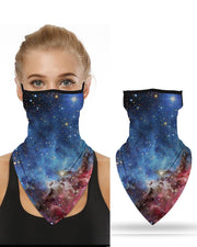 Sparkle Sky Print Breathable Ear Loop Face Cover Windproof Motorcycling Dust Outdoors