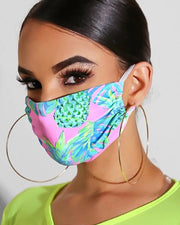 Print Breathable Mouth M .a. s. k Washable And Reusable