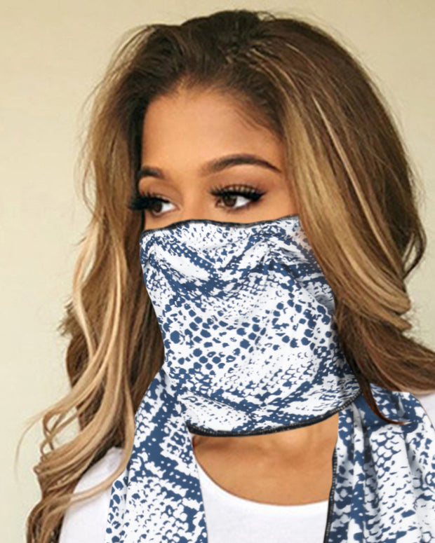 Snakeskin / Floral / Paisley Print Breathable Scarf Face Mask