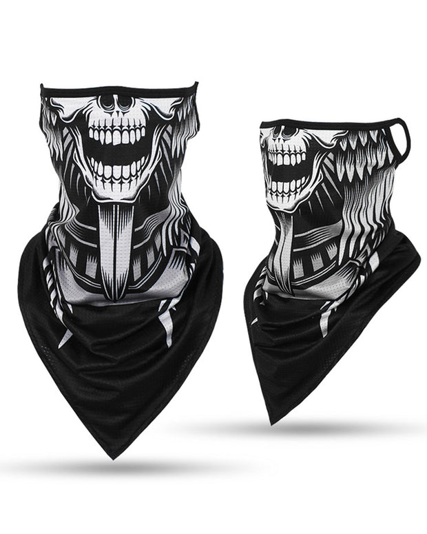 Skull Print Breathable Face Cover Windproof Motorcycling Dust Outdoors