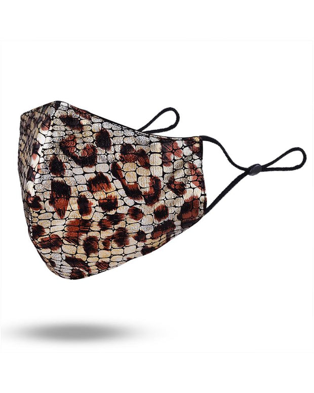 Cheetah Print Colorblock Breathable Face Mask