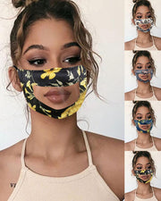 Floral Print Visible Face Mask