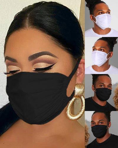 5PCS/Set Randomly Dispatched Plain Breathable Face Mask(Colors/Patterns Sent Randomly)