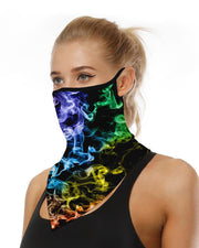 Colorblock Breathable Ear Loop Face Cover Bandana Windproof Motorcycling Dust Outdoors