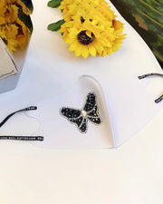 Butterfly / Bowknot Pattern Studded Face Mask