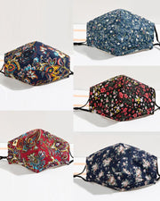 5PCS/Set Randomly Dispatched Floral / Paisley Print Breathable Face Mask