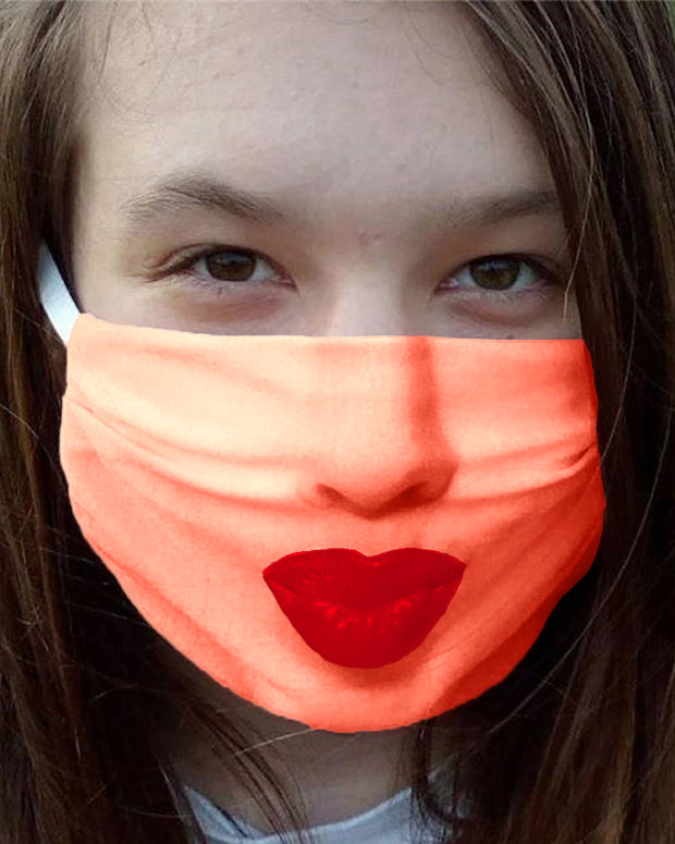 Face Emoji Print Breathable Mouth Mask